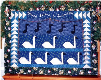 Seven Swans a Swimming quilt pattern PDF DOWNLOAD