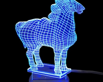 Horse- LED Night Light Lamp 3D