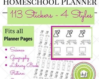 113 Homeschool Planner Stickers