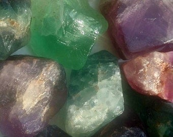 RAINBOW FLOURITE- 100% raw natural stone