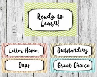 Customize this behavior chart- Glitter behavior chart, Teacher Decor