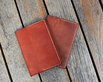 Notebook with Handmade Leather Cover