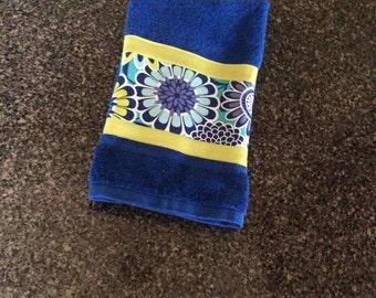 Blue on Blue Cotton Hand Towel