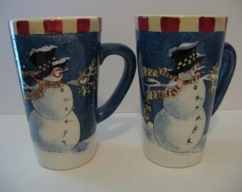 2 - Large Coffee Mugs - Winter Buddies