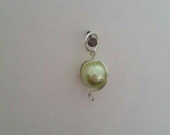 "Light green ""pearl"" charm"