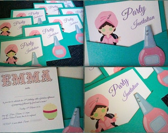 Pamper Party Invitations