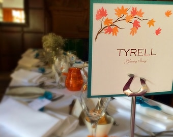 Autumn themed Wedding Stationery Package