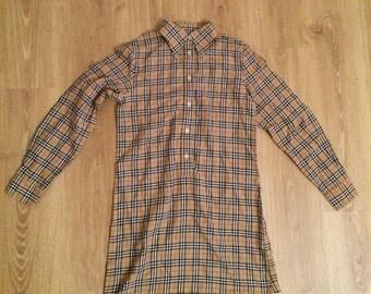 Vintage tartan shirt dress