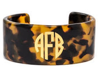 Tortoise Monogram Bangle bracelet