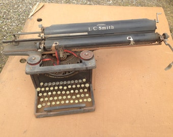 Rare antique typewriter A3 Smith & Corona