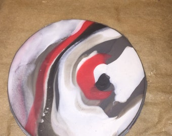 Marbled Coasters: Set of 4