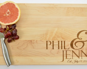 Personalized Cutting Board, Engraved Cutting Board, Custom Board, Wedding Cutting Board, Personalized Engagement Gift, Unique Gift Ideas