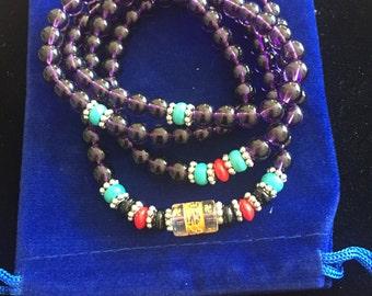 Tibetan Buddha prayer beads