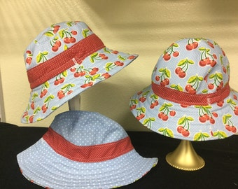 Baby Retro Cherry print hat