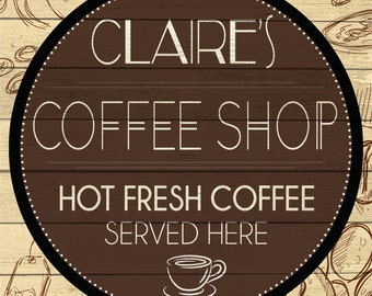 Custom Coffee Shop Sign Digital Download