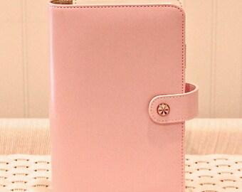 Personal Planner Binder, Pink Planner Notebook, Notebook Journal, Planner Notebook, Journal Notebook, Leather Notebook, Ring Binder