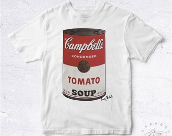 NEW 2016 Tee Shirt Campbells Tomato BIO HANDMADE Art Andy Warhol Modern Hype Hipster Bobo Soupe Tomates Color Insta Wtf Culture Jolie Artist