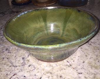 Wheel thrown bowl