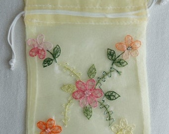 Organza Embroidery Gift Bag