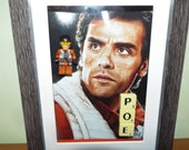 Star Wars Custom Lego Poe mini figure Frame with Scrabble tiles