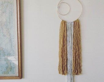 Brass Ring Wall Hanging
