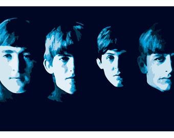 Serious Beatles Poster