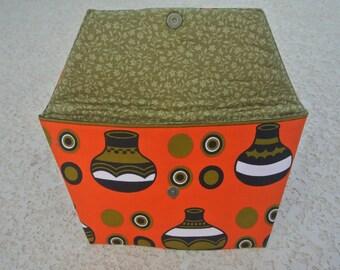 Orange Ankara Clutch - Tribal Clutch - Ankara Clutch - Women's Clutch - Women's Purse - Wax Cotton Clutch - Orange Clutch -