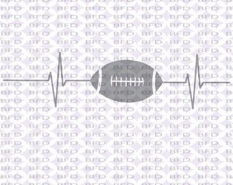 Football ekg ecg Football svg Super bowl Sports Cuttable design file svg dxf eps png