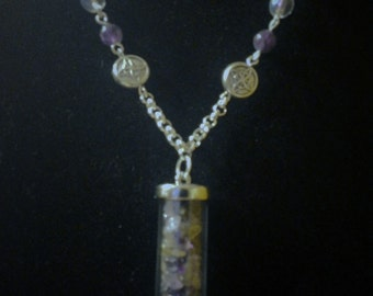 Amethyst Vial Necklace