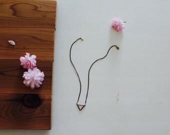 Geometric Copper  Necklace