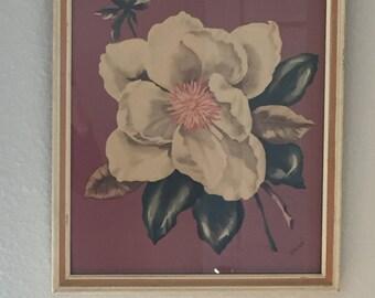 60s Floral Framed Art Still Life