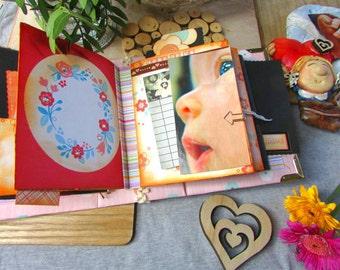 My baby girl--Gift Idea- Hand Made  Newborn Baby Girl,  Hand Crafted Photo Memory Album for Christening/Baptism