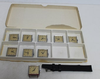 "Vintage set from 9 swiss watches ""FERO FELDMANN"""