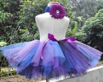 Baby girls handtied fluffy tulle skirt set #GT16002