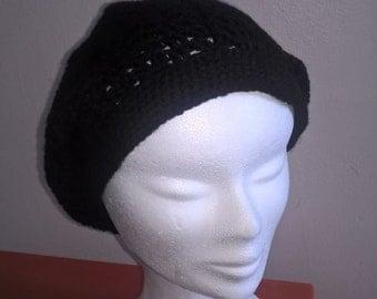 Chic bohemian black crochet Hat