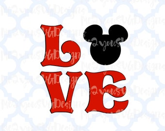 Love Mickey SVG,EPS,PNG,Studio