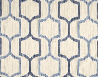 Blue Pillow Cover, Blue and Tan Pillow, Classic, Light Blue, Dark Blue, Ikat, Tan, Geometric, Throw Pillow, Modern, SummerHome, Traditional
