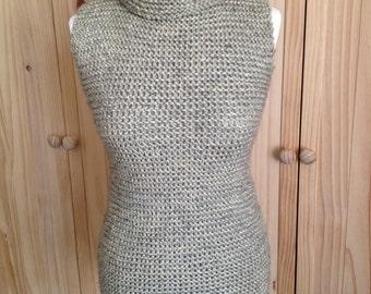 100% real, extra chunky wool mini dress