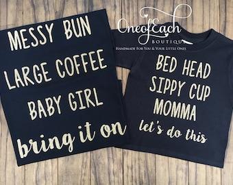Baby Girl/Momma Glitter Set