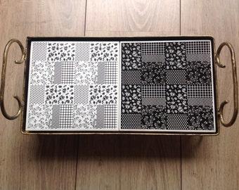 Bandeja Iron doubleblock patchwork b&w