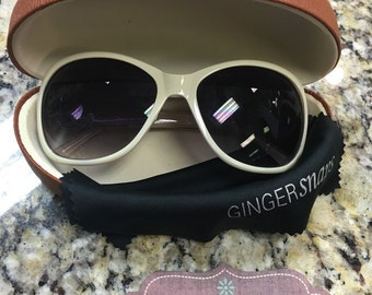 Ginger Snap Pearl White Sunglasses