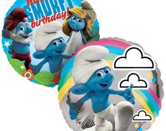 FAST SHIP Smurfs Smurfette Birthday Balloons, Smurfs Party Balloons, Smurfs Foil Balloon, Smurfs Party Supplies