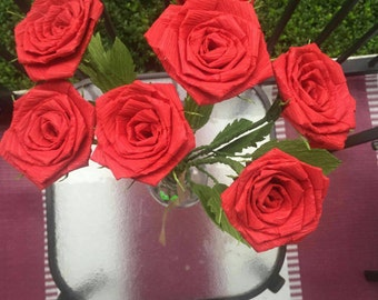 Red Roses bouquet, Valentine's day, anniversary, wedding,  mother's  day