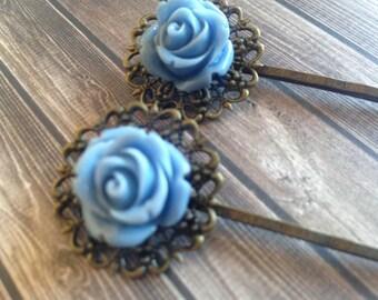 FORK VINTAGE large blue flower