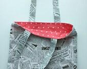 Just a Lil Newspaper Tote Bag