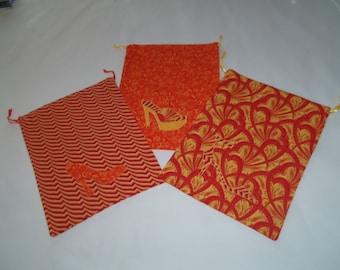 Set of 3 travel shoe bags