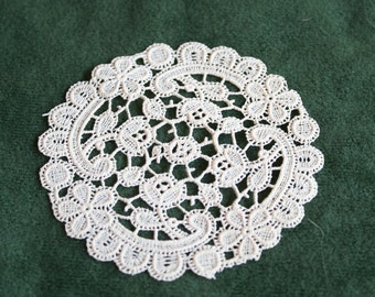 Miniature Lace Doily for Dollhouse or Miniature Display