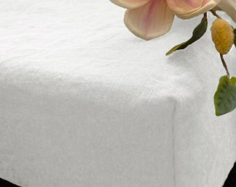White linen Fitted sheet,Natural Flax linen fitted SHEET,Linen bed sheet,luxury linen bedding,white sheets,custom Queen,Linen Fitted Sheet