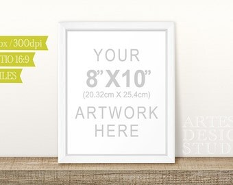 8x10 White Frame MOCKUP PHOTOGRAPHY | Digital, Vertical, Portrait, Empty Frame, Stock Photo, Mockup, Styled Photography