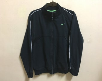 Vintage 90's Nike Black Classic Design Skate Sweat Shirt Sweater Varsity Jacket Size L #A472